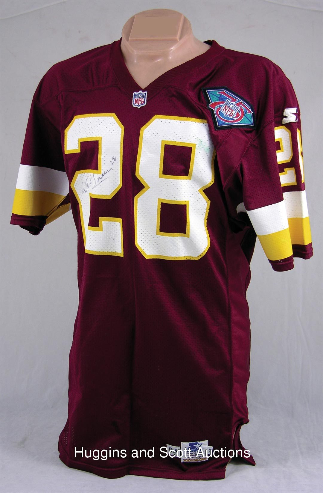 super popular fde8f 72a13 1994 Darrell Green Washington Redskins Game Used Home Jersey ...