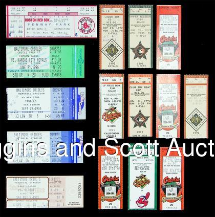 Pictured above are stubs from the games where Ripken homered during the streak.