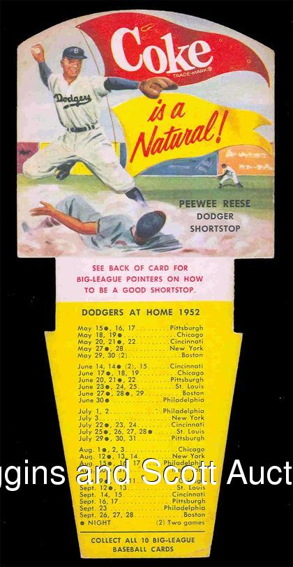 Front of Pee Wee Reese Card
