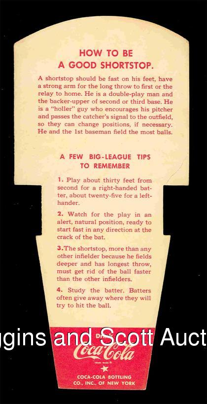 Back of Pee Wee Reese card